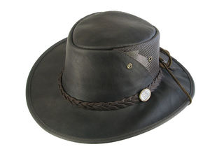 Kangaroo Cooler Foldable Leather Barmah Hat