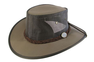 Brown Canvas Breeze Barmah Hat