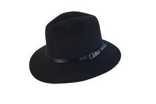 Black Wool Felt Jacaru Hat