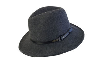 Dark Grey Wool Felt Jacaru Hat