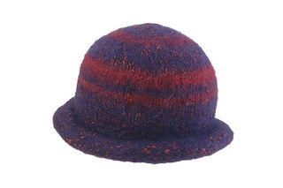 Purple Red Felted Hat