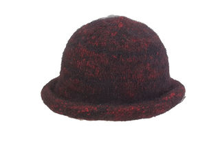 Red Black Felted Hat