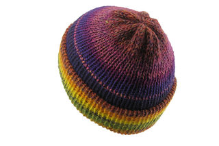Yellow Purple Beanie