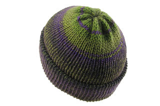 Green Purple Beanie