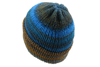 Brown Blue Beanie