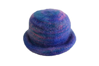 Blue Pink Felted Hat