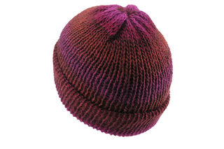 Brown Purple Beanie