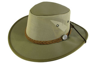 Khaki Canvas Breeze Barmah Hat