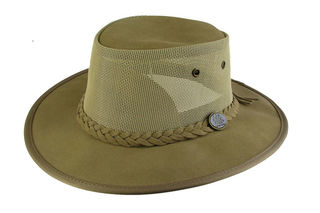 Cow Suede Foldable Leather breeze Barmah Hat