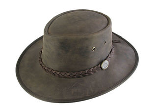 Cow Hide Foldable Leather Barmah Hat