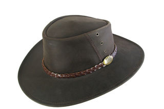 Cow Leather Magpie Jacaru Hat