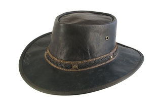Kangaroo foldable Leather Barmah Hat