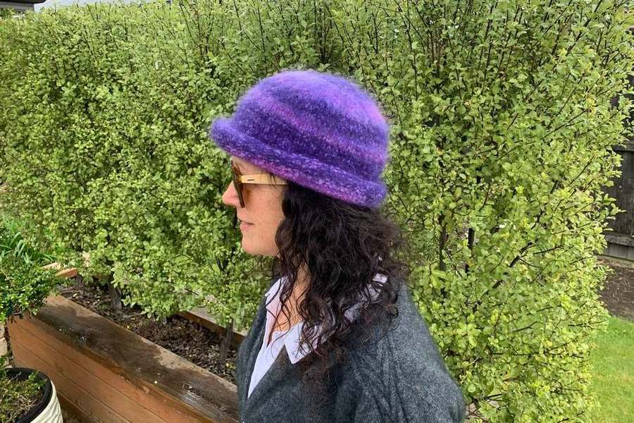 Multi Purple Felted Hat